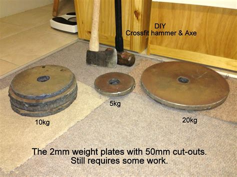 diy crossfitgym cut  olympic weight plates diy crossfit fitness pinterest olympic