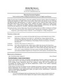 resume for associate system engineer exle electronics technician resume sle