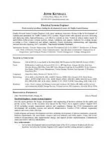 engineering technician resume keywords free electrical systems engineer resume exle