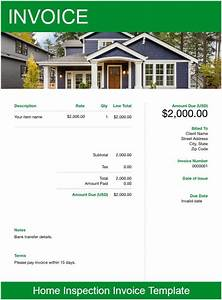 Work Invoice Template Word Home Inspection Invoice Template Free Download Send In