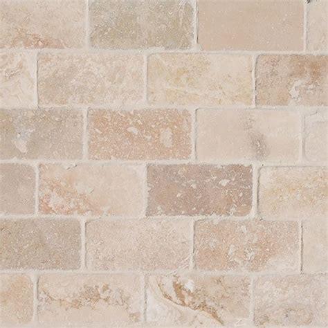 Free Samples Izmir Travertine Tile  Tumbled Riverbed