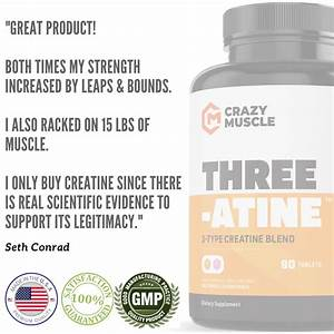 Three-atine  Buy Creatine Tablets  Monohydrate  Hcl  U0026 Pyruvate  Online