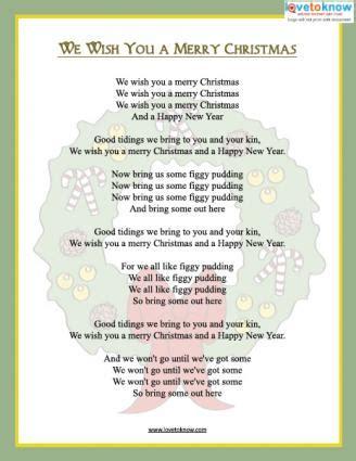 we wish you a merry testo italiano printable carols lovetoknow