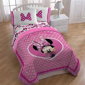 disney minnie mouse comforter twin full size cute bows