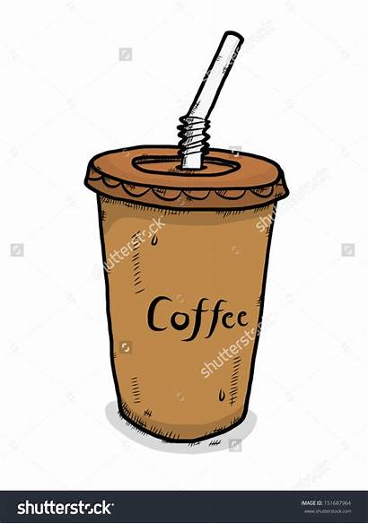 Coffee Cups Plastic Cartoon Cup Iced Cartoons
