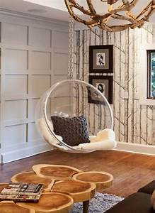 32 Interior Designs with Hanging Bubble Chair