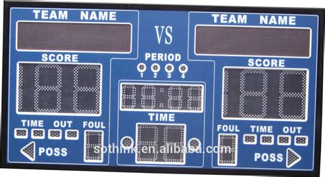 Wireless Portable Digital Led Basketball Scoreboard With
