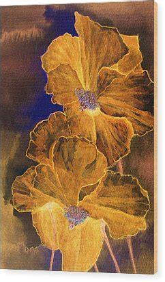 golden poppies digital art  louise grant