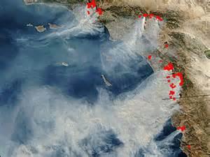 California Wildfires Satellite