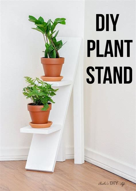 diy tiered plant stand  scrap wood carpentry