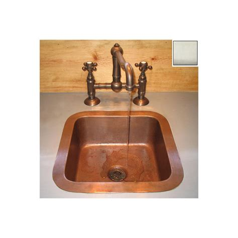 lowes copper kitchen sink shop terra acqua santa ynez copper single basin undermount 7208