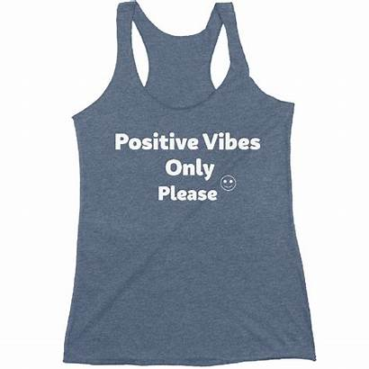Vibes Positive Tank Attitude Fall Fabric