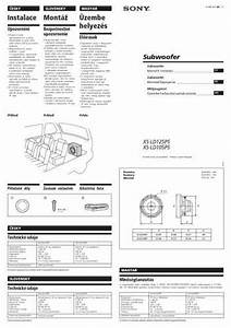 Sony Xs Ld125p5 Xplod Speaker Download Manual For Free Now