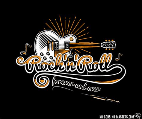 T-shirt Rock'n'roll Forever And Ever ★ No-gods-no-masters.com