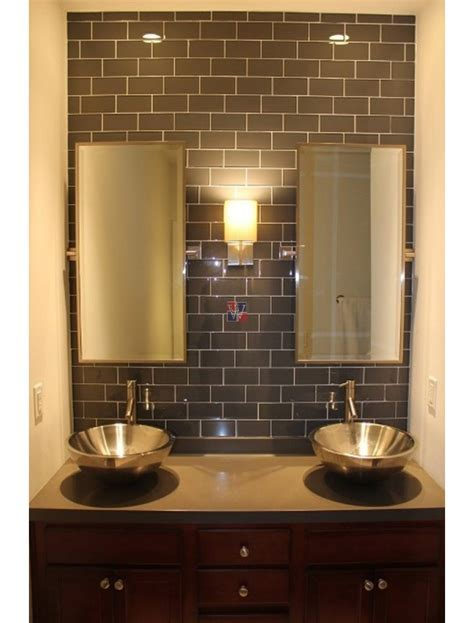 Buy Metallic Gray 4x12 Subway Tile   Subway Tile