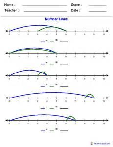 printable number lines school