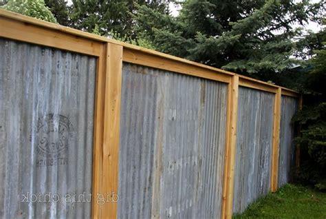 corrugated metal fence design breathtaking corrugated metal fence designs inspiration landscaping pinterest