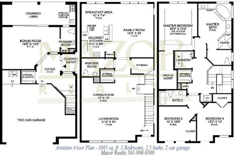three home plans house floor plans and trieste at boca raton florida