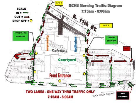morning traffic diagram gadsden city high school