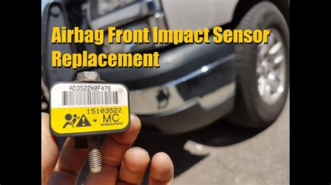 airbag deployment 2007 gmc savana 1500 spare parts catalogs silverado sierra front impact airbag sensor replacement gm truck anthonyj350 youtube