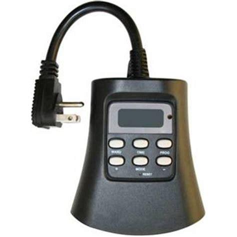 christmas light timer home depot westek plug in 3 outlet outdoor digital photocell timer