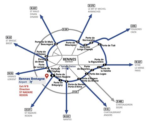 access map rennes bretagne airport