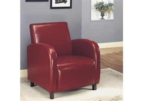 Burgundy Leather-look Fabric Accent Chairs