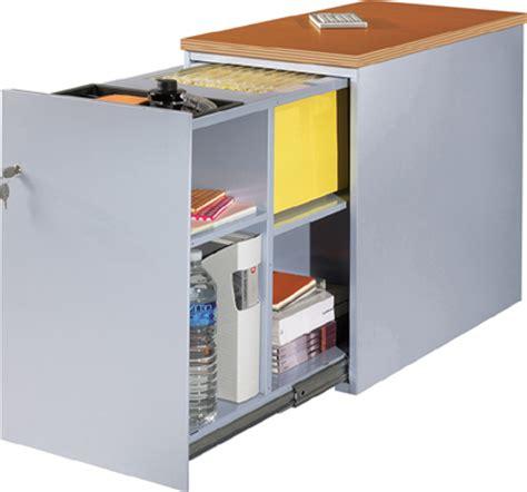 bureau avec caisson dossier suspendu classement métal mobilier raimondi