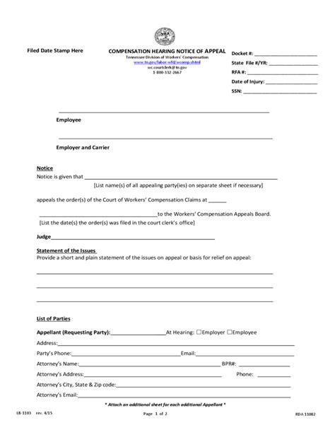 workers compensation forms   templates