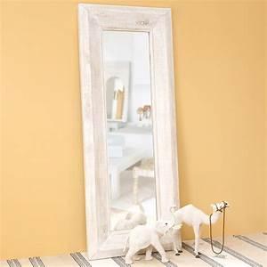 miroir en bois blanchi h 200 cm sahaba maisons du monde With miroir 200 cm