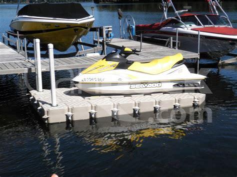 Jet Boat Floating Docks by Jet Ski Dock Candock Miami