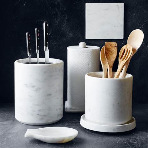 marble napkin holder marble paper towel holder williams sonoma 4020