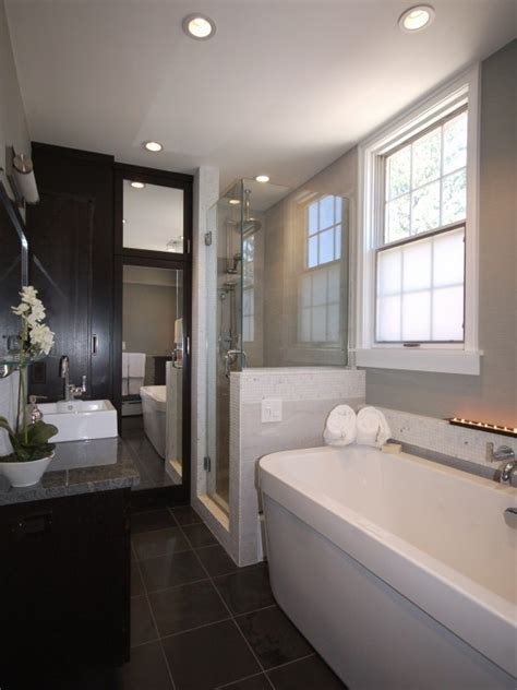 narrow bathroom bathrooms pinterest