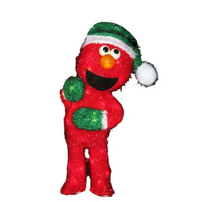 18 sesame street lighted elmo 3d soft tinsel christmas