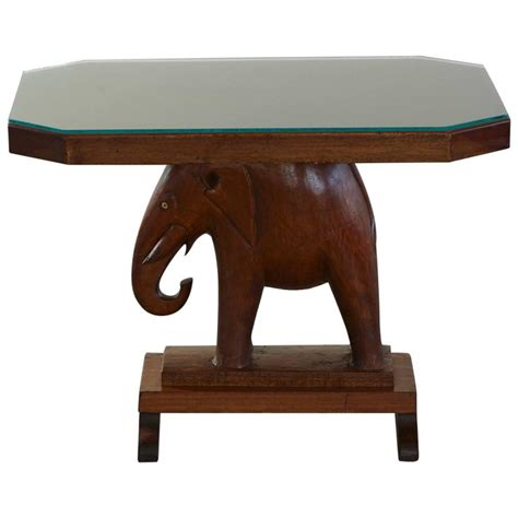 elephant tables for sale rare mahogany table with carved elephant base with