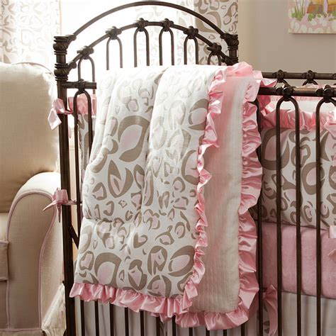 cheetah print crib bedding pink and taupe leopard crib comforter traditional baby