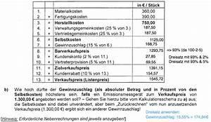 Herstellkosten Des Umsatzes Berechnen : verkaufspreis berechnen mathelounge ~ Themetempest.com Abrechnung