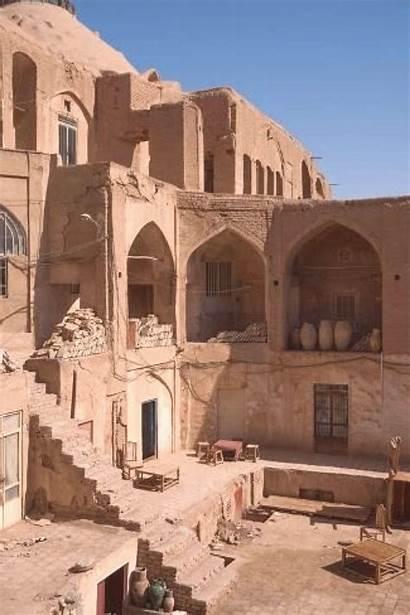 Middle East Bazaar Courtyard Iran Kashan Architecture
