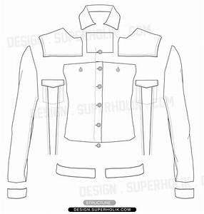 Womenu2019s Jacket template u2013 Flat | SUPERHOLIK