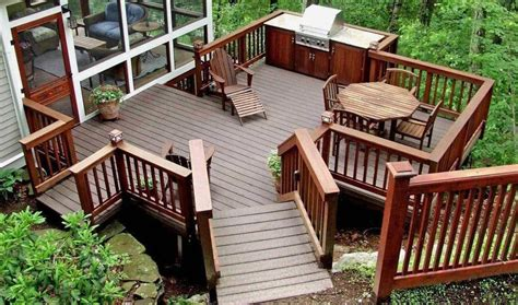 stunning images deck block plans 20 beautiful wooden deck ideas for your home