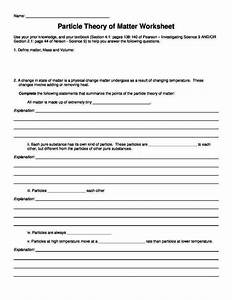 Changes Of State Worksheet