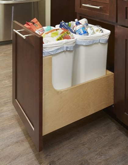 kitchen cabinet trash drawer pull out trash can cabinet kitchen recycling waste bin 5840