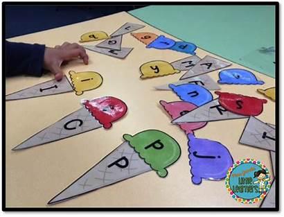 Kindergarten Literacy Center Alphabet Ice Cream Match