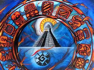 Calendario Maya Painting by Angel Ortiz
