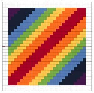 Reading Knitting Charts Cross Stitch Rainbow Block 1 The Crafty Mummy