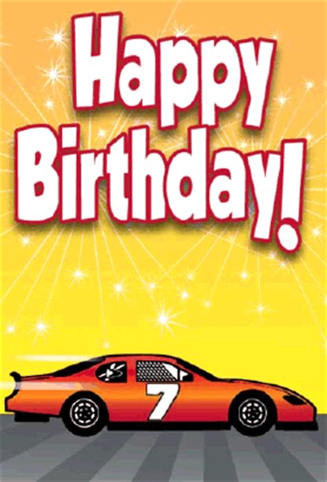 stockcar racecar birthday card
