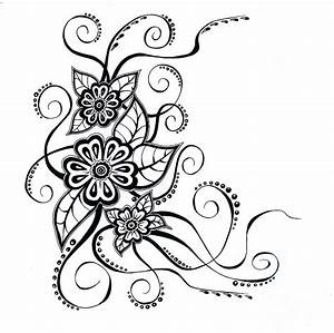 Floral Line Drawings - ClipArt Best