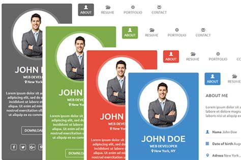 vcard template free html css resume vcard template