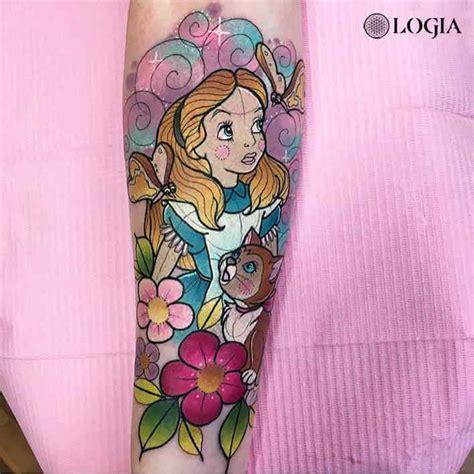 Tatuaje de Alicia en el País de las Maravillas Logia