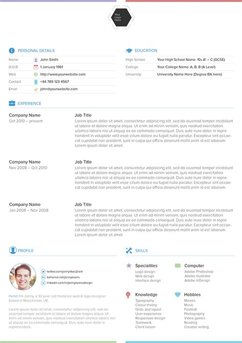 Behance Resume Template by Resume Template On Behance